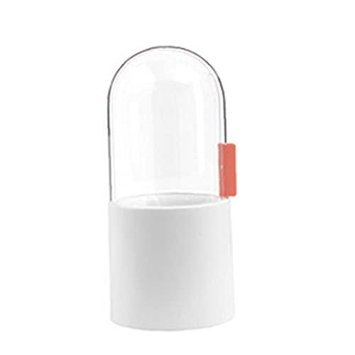 Tsikuxm Make-up-Pinsel-Halter-Make-up-Organizer-Halter-Kosmetik-Aufbewahrungsbox-Stifthalter mit Deckel-Perlen für Arbeitsplatten-Vanity-Kommode weiß