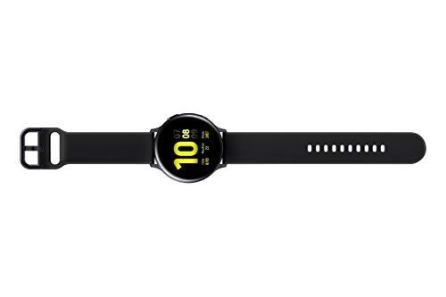 Samsung Galaxy Watch Active2 Explorer Edition, Fitnesstracker aus Aluminium, großes Display, ausdauernder Akku, wassergeschützt, 40 mm, inklusive 2x araree , Schwarz