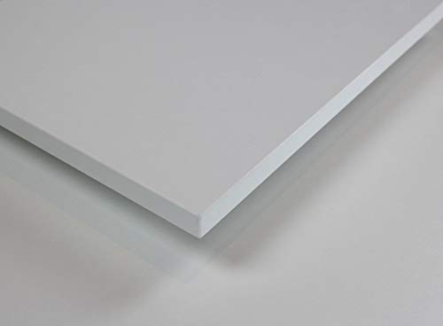 MySpiegel.de Tischplatte Holz Zuschnitt nach Maß Beschichtete Holzdekorplatte (120 x 70 cm, Weiß)