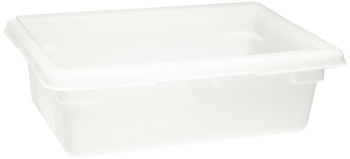 Rubbermaid Commercial Products (FG350900WHT) Food Storage Box/Tote for Restaurant/Kitchen/Cafeteria, 3.5 Gallon, White