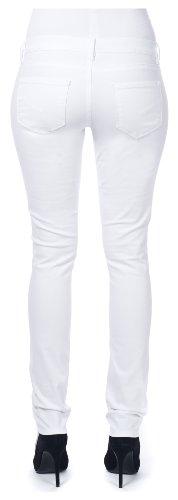 Noppies Damen Umstandsmode Hose 60027, Gr. 32 (XXL), Weiß (White C001)