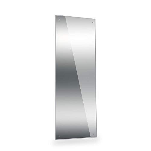 Dripex Spiegel 120x45cm Rahmenloser Badezimmerspiegel rechteckig Wandspiegel mit poliertem Rand und vorgebohrten Löchern Badspiegel für Ankleidezimmer Schlafzimmer und Wohnzimmer