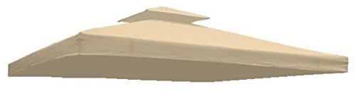 Ersatzdach für Partyzelt Pavillon in verschiedenen Farben (Beige) Dach