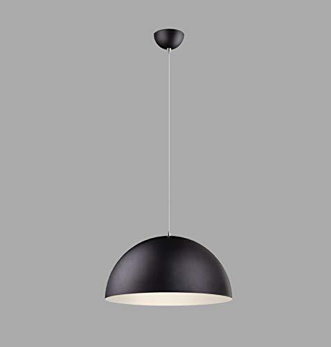 RODDIE - Lámpara colgante de estilo escandinavo (39 cm de diámetro, LED o bombilla, E27, metal), color negro