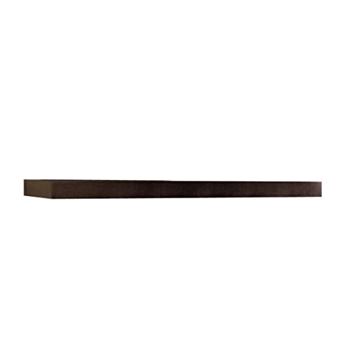 InPlace Shelving, Espresso Lewis Hyman 9084650 Floating Wall Shelf, 47.24 Inch Wide by 2-Inch High, 47.24 in W x 10.2 in D x 2 in H