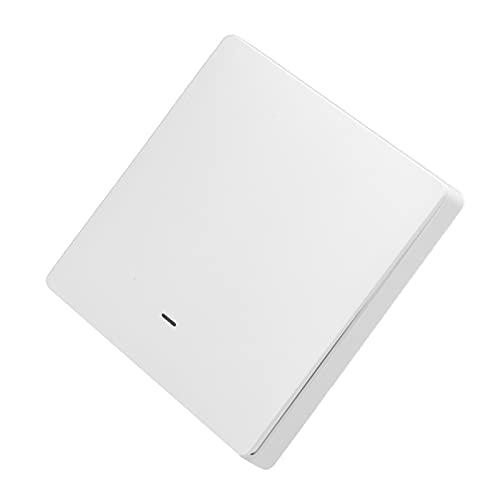 Interruptor inteligente de panel de pared, resistencia a la temperatura, control de voz, resistencia a la corrosión, interruptor de luz inteligente de pared para oficina(1 vía)