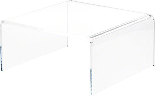 PlyMor Brand Steigrohr aus Acryl, kurz, quadratisch, transparent 6