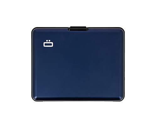 Ögon Smart Wallets - Portefeuille Big Stockholm Format Carte d'identité et Permis de Conduire - RFID Protection : protège Vos Cartes Contre la fraude - Jusqu'à 10 Cartes - Navy Blue