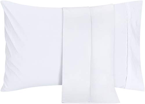 Utopia Bedding Pillowcases - 2 Pack - Soft Brushed Microfiber Fabric- Wrinkle, Shrinkage and Fade Resistant Pillow Covers (Queen, White)