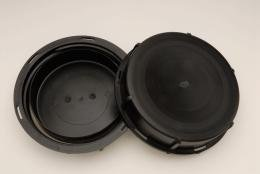 Mauser Black 6' Solid Cap W/Gasket for Mauser IBC Tote