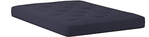 Serta Sycamore Double Sided Convoluted Foam and Cotton Full Futon Mattress, Black, Made in the USA