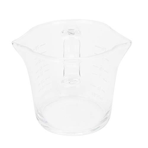Vasos fáciles de usar Mide fácilmente Con 2 boquillas triangulares Diseño de mango de taza para medicamentos, cocinar, hornear