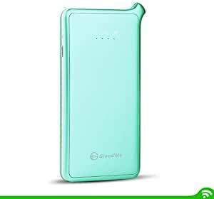 GlocalMe C3 Mobiler WLAN Router, 3500mAh Akku, 4G LTE bis zu 150Mbit/s Download & 50Mbit/s Upload, kein-Schloss GSM mit SIM-Kartensteckplatz, Hotspot für bis zu 8 Geräte (grün)