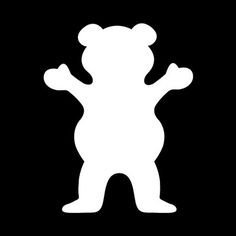 SUPERSTICKI® Grizzly Grip Bear Logo Griptape Skateboarding Sticker Decal Back/Afmetingen in inch Vinyl Sticker|Cars Trucks Vans Walls Laptop| White | 5,5 x 4,25 in|CCI517