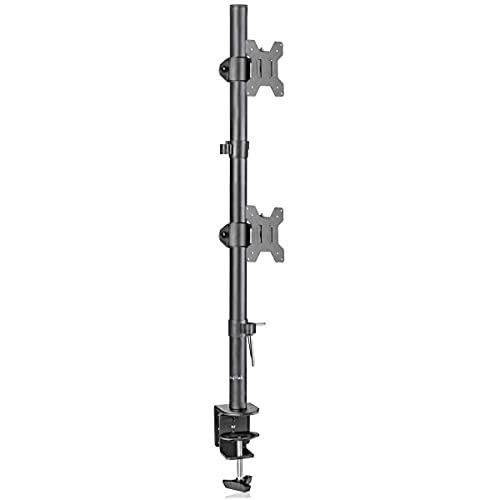 Suptek 上下2画面 80cm クランプ式 モニターアーム デュアルディスプレイ スタンド 13-27インチ対応 耐荷重10kg(1台) VESA規格75-100mm MD6802
