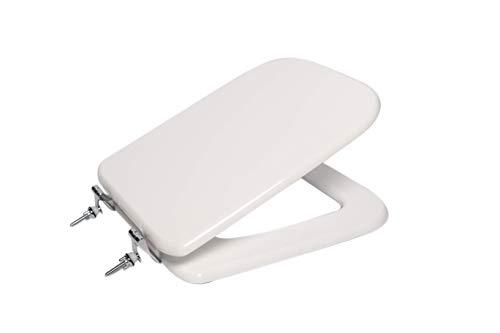 Copri wc water sedile per modello Conca Ideal Standard in legno cerniere cromate (bianco)