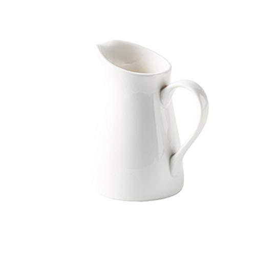 caihuashopping Salsera de Porcelana Jarra de Crema de cerámica con asa Servir Leche/Salsa de Ensalada/Jarabe de Arce Caliente Adecuado para té de la Tarde o reunión de Amigos 250ml Salsera