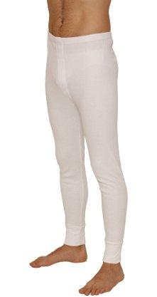 Caleçon thermique long pour homme, pantalon, sous-vêtement retenant la chaleur, taille M/L/XL, blanc ou gris, idéal pour le snowboard, le ski, l'escalade, blanc, Taille M