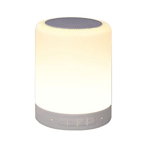 SH-RuiDu Lámpara de mesa LED inalámbrico Bluetooth altavoz hogar control inteligente portátil luz de noche mini altavoz