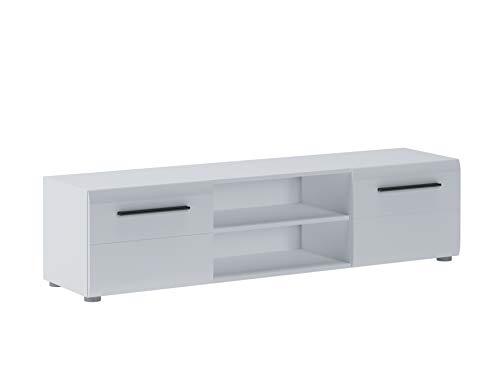 Home Heavenly® - Mesa TV Dream, Mueble Moderno para salón Comedor, en Lacado Blanco Brillo, Amplio Espacio de almacenaje y máxima Calidad Fabricación Europea. Medidas: 160 X 40 X 39,60 CM de Fondo