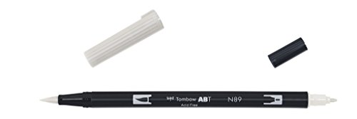 Tombow Dual brush-n89–Pennarello Doppia Punta Pennello, colore: grigio