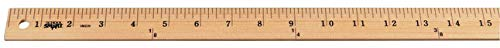 Price comparison product image School Smart Plain End Wood Yardstick,  1 yd L X 1-1 / 8 in W X 1 / 4 in Thickness,  Wood