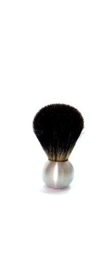 Golddachs - Brocha de afeitar de pelo de tejón (1 unidad, mango de aluminio y forma esférica)