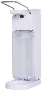 *Sale* Armhebelspender Blanc UNIVERSAL 500ml & 1.000ml mit schwenkbarer Abtropfschale, verschließbar, Seife, Desinfektion. - Weiß