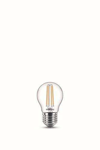 Philips LEDclassic E27 Lampe, Doppelpack, 470 Lumen entsprechen 40W, warmweiß (2.700 Kelvin), klar