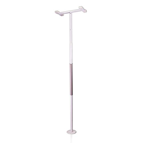 Stander Security Pole, Floor to Ceiling Transfer Pole, Elderly Grab Bar and Bathroom Rail with Padded Handle, Iceberg White