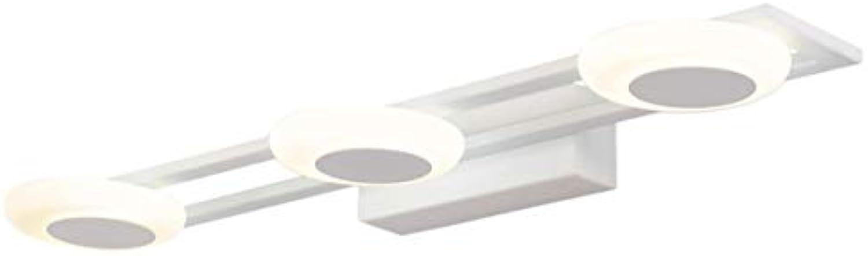 Badezimmer Vanity Light Fixture 3-Light Wandleuchte Moderne Nordic Acryl Spiegel Frontleuchte Bild Frontleuchte Neutral Licht 50 cm