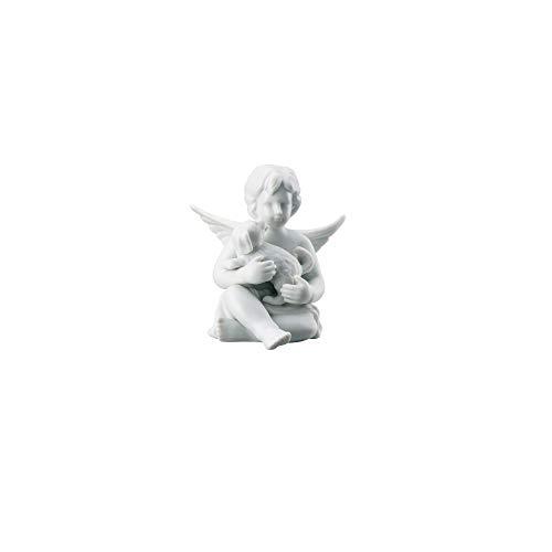 Rosenthal - Engel mittel - Weiss matt - Engel mit Hund - Porzellan - 10 cm