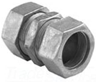 Bridgeport 260-DC Compression Coupling, 1/2 in, for Use with Steel and Aluminum EMT Conduit, Die Cast Zinc