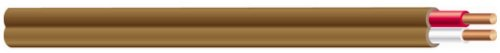 Southwire 64162122 2 Conductor 18/2 Thermostat Wire, 18-Gauge Solid Copper Class 2 Power-Circuit Cable, Brown