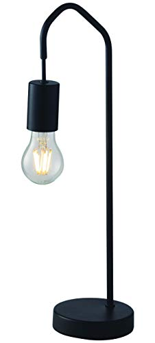 Luce Design Tischleuchte Habitat für E27-Leuchmittel, Design, Elegante, minimalistische Tischlampe, Metall, Schwarz
