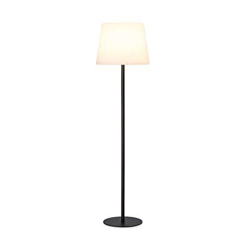 Blumfeldt Moody ST Lampe - Schutzklasse: IP65, Lampenschirm aus PE, extralanges Netzkabel mit 5 Metern, Lampenständer aus Stahl mit Pulverbeschichtung, Fassung: E27, max. 25 Watt, weiß