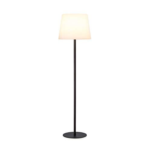 Blumfeldt Moody ST lamp - beschermingsklasse: IP65, lampenkap van PE, extra lange stroomkabel met 5 meter, lampvoet van staal met poedercoating, fitting: E27, max.25 watt, wit
