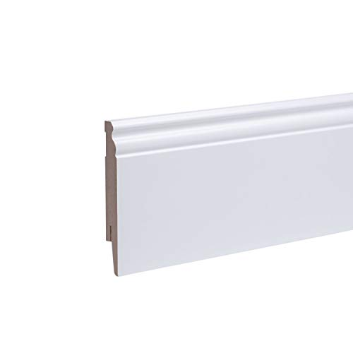 48 Mètres plinthes profil berlin 120 mm pack tout inclus blanc