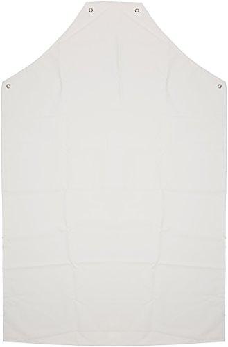 Prossor AP416 PVC-/Nylon-Schürze, 121,9 cm x 91,4 cm, Weiß.
