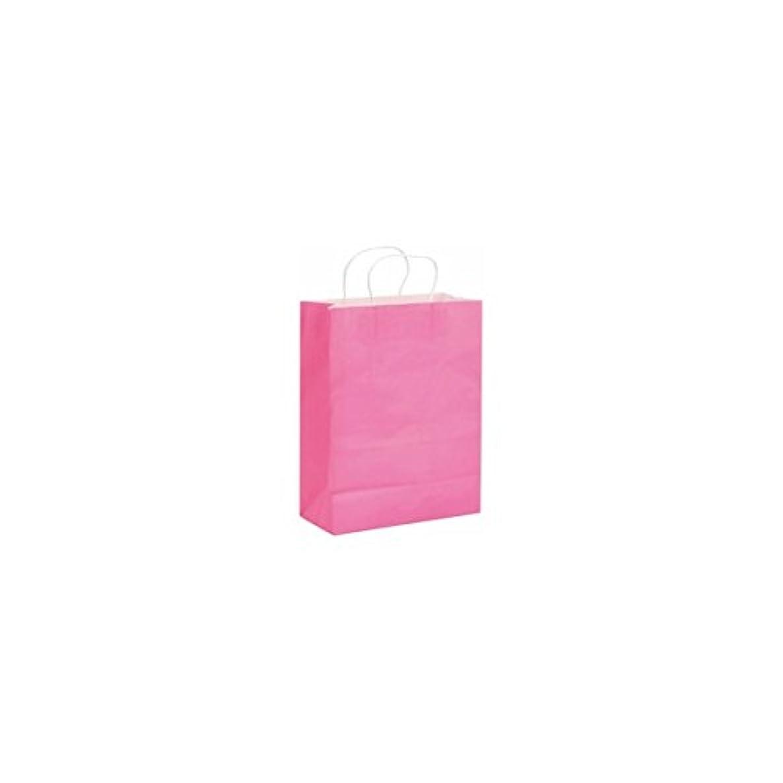 Glorex Paper Pink Paper Carrier Bags Twisted Handles?–?25?cm x 0.3?x 42?cm