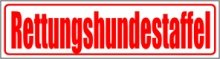 INDIGOS UG - Magnetschild Rettungshundestaffel 30 x 8 cm reflektierend - Magnetfolie für Auto/LKW/Truck/Baustelle/Firma