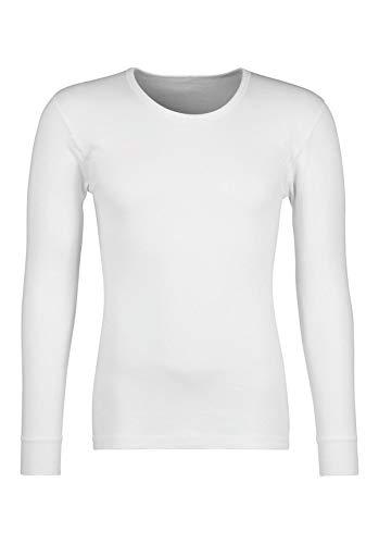 HUBER Herren Shirt Langarm Unterhemd, Grün (Weiss 0500), Large (Herstellergröße: L)