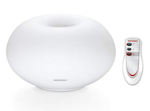 Soehnle Milano Plus Aroma Diffuser mit Fernbedienung, Lufterfrischer mit Beduftung und/oder Beleuchtung, Diffuser mit Farbwechsel und Stopp-Funktion