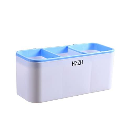 ACEACE Punch Free Secador de Pelo Soporte de Soporte Estantes de baño para la Cocina Organizer Storage Rack Box Accesorios de baño Conjunto (Color : Blue)