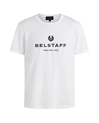 Belstaff Camiseta de algodón ligero para hombre 1924, blanco, XXL