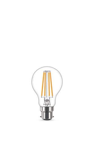 Philips Lampadina LED Goccia Filamento, Equivalente a 75W, Attacco B22, Luce Bianca Calda, non Dimmerabile