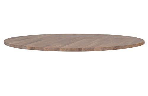 Green Farm - Greenton Tischplatte Eiche Ø120 Öl Grau [fsc]
