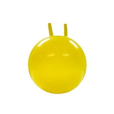 JOWY Pelota Canguro Fitness Infantil Tecnología Antiexplosión Entrenamiento Ejercicios de Equilibrio Amarilla de 45cm
