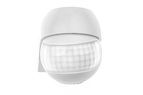 HUBER Motion 3 Compact Infrarot Bewegungsmelder 180° Innen/Außen Bewegungssensor IP44 I 230V Bewegungsmelder LED geeignet, horizontal/vertikal verstellbar, weiß