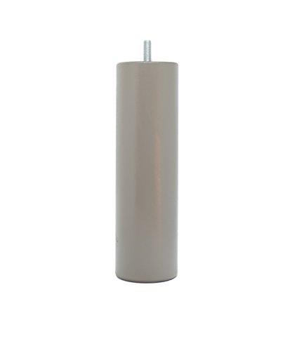 La Fabrique de Pieds AM20170046 Jeu de 4 Pieds de Lit Cylindres Bois Laqué Taupe 20 x 6 x 6 cm